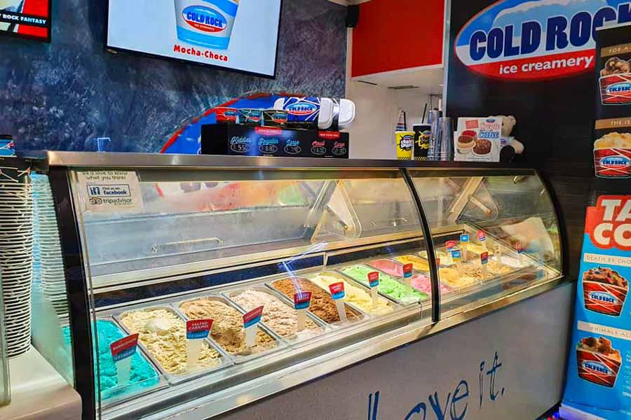 Ice cream cabinet, Cold Rock Ice-cream Airlie Beach, Whitsundays, Australia