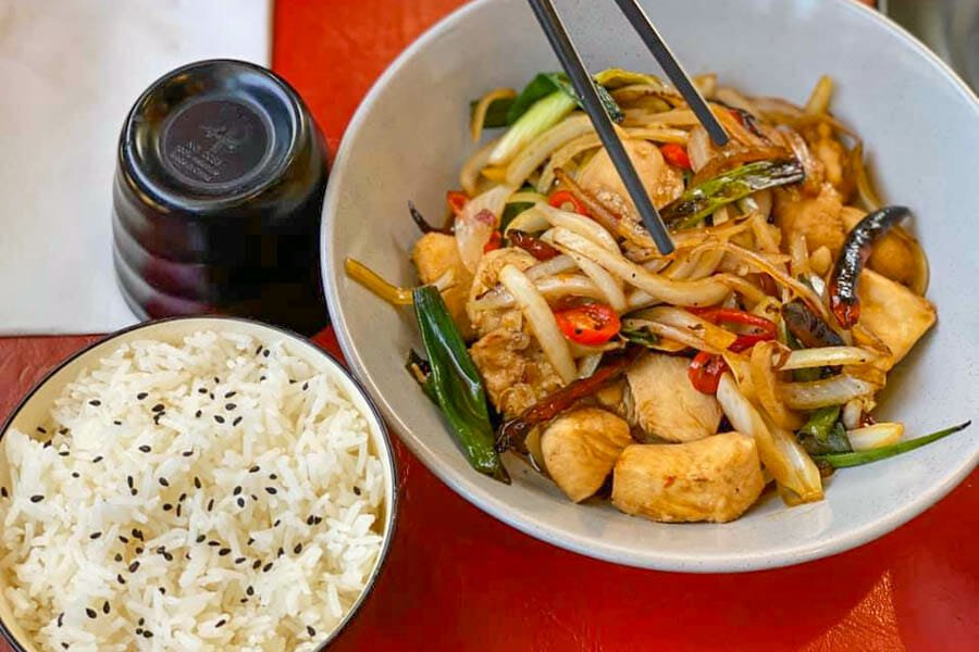 Kung Pow Chicken Dish made by Cool La La, Asian Cuisine, Airlie Beach, Whitsundays, Australia
