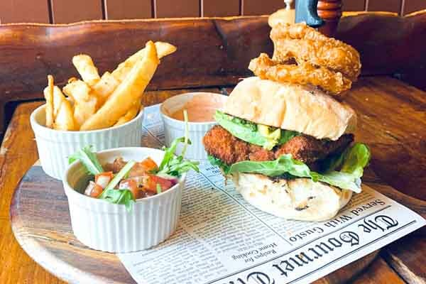 KC's Chicken Burger served by KC's Bar & Grill, Main Street Airlie Beach, Whitsunday Region