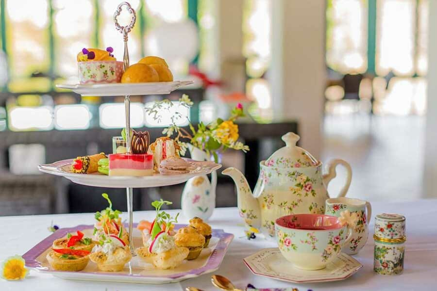 Cakes, sweets and slices on a tower of High Tea, My Rainbow Bakery & Cafe, Cannonvale, Whitsunday Regions
