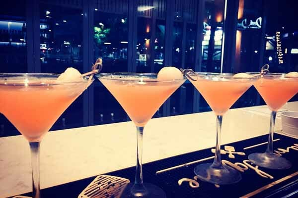 Lychee martini's at The Deck, Main Street Airlie Beach, Whitsunday Region, Queensland