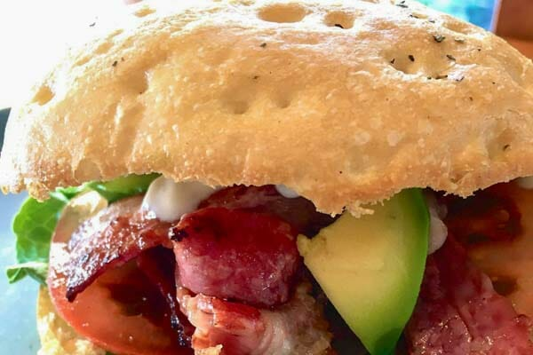 the deck chicken and bacon and avocado burger airlie beach