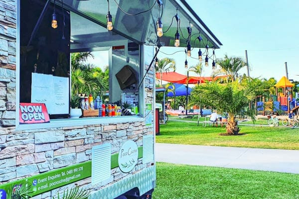 food truck on the airlie beach foreshore, located Airlie Beach, Whitsunday Region, Queensland