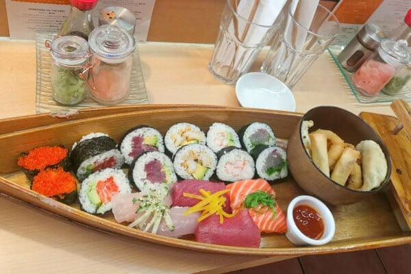 Sushi & Nigiri platter, Sushi Hi Restaurant, Airlie Beach, Whitsunday Region, Australia