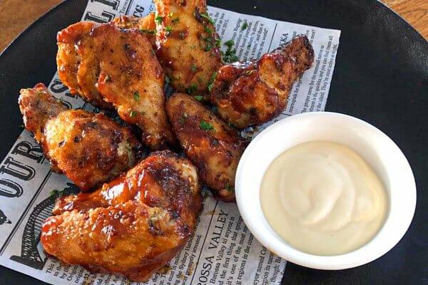 chicken wings, garden bar bistro, airlie beach