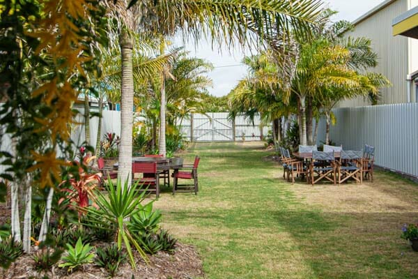 Outside dining area at 22 buttercup lane in Proserpine, Queensland, Whitsundays