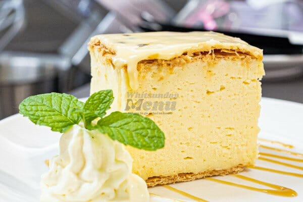 vanilla slice served at 22 buttercup lane in Proserpine, Queensland, Whitsundays