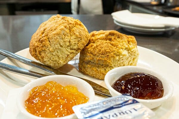 scones with butter and jam served at 22 buttercup lane in Proserpine, Queensland, Whitsundays