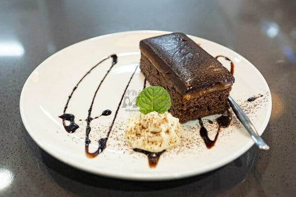 Salted caramel and cream on a plate served at 22 buttercup lane in Proserpine, Queensland, Whitsundays