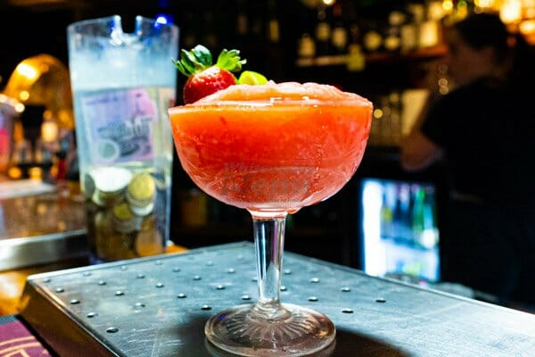 Strawberry Daiquiri Cocktail at Banjos, Bar & Bistro, Cannonvale, Whitsundays