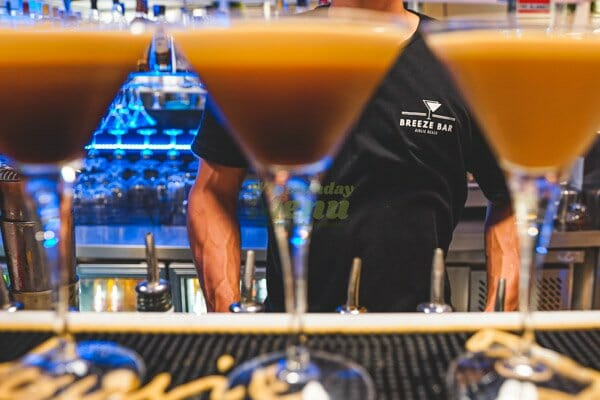 Espresso Martini Cocktail bar at Breeze Bar, Airlie Beach, Whitsunday Region