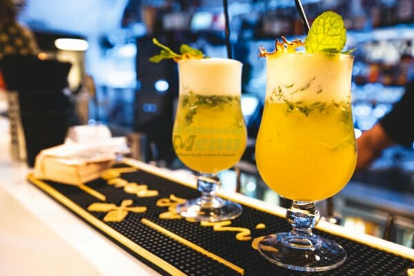 Pineapple ginger mojito's at the bar at Breeze Bar, Airlie Beach, Whitsunday Region