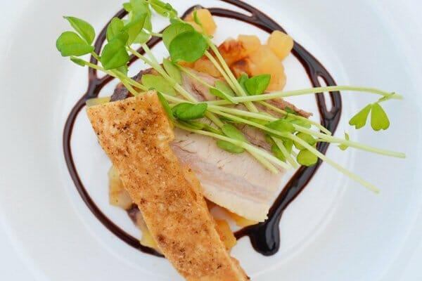crispy pork belly, with balsamic glaze, D'vine Catering & Events, Whitsundays, Queensland, Australia