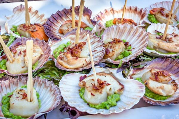 scallop appetisers, D'vine Catering & Events, Whitsundays, Queensland, Australia