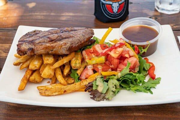 300g Rump Steak served by KC's Bar & Grill, Main Street Airlie Beach, Whitsunday Region