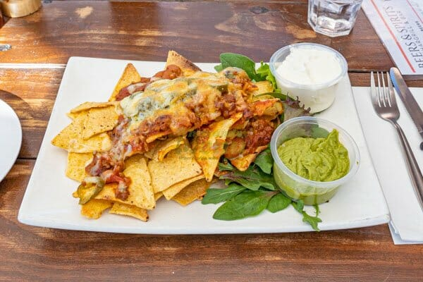 Chilli Beef Nachos served by KC's Bar & Grill, Main Street Airlie Beach, Whitsunday Region