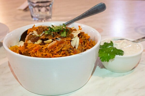 Biryani Rice, Lovely India, Airlie Beach, Whitsunday Region