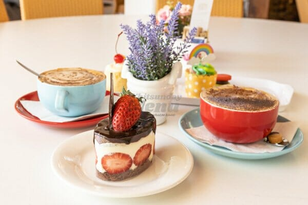 selection of coffee's and cakes, My Rainbow Bakery & Cafe, Cannonvale, Whitsunday Regions