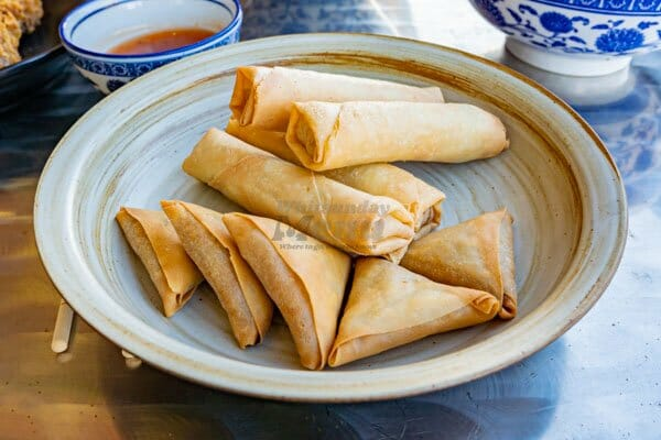 spring rolls at Noodle and Rice Airlie Beach, Whitsunday Region, Australia