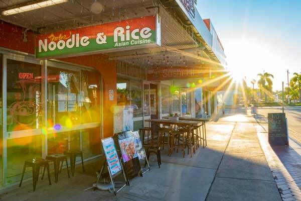 Noodle & Rice store front Airlie Beach, Whitsunday Region, Australia