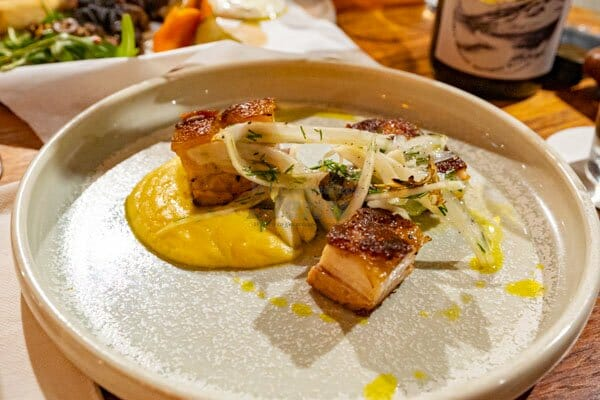 Pork Belly at Paradiso Rooftop Restaurant and Bar, Airlie Beach Main Street, Whitsundays