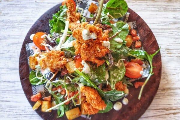 chicken ranch salad, poco cucina,  located Airlie Beach, Whitsunday Region, Queensland