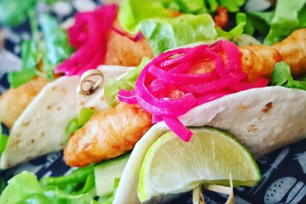 ginger beer fish tacos, Poco Cucina, Airlie Beach, Whitsunday Region, Queensland