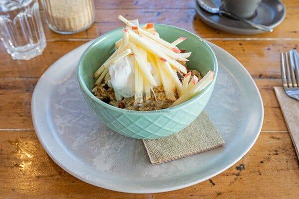 Housemade Bircher Muesli at Fat Frog Beach Cafe, Cannonvale, Whitsundays