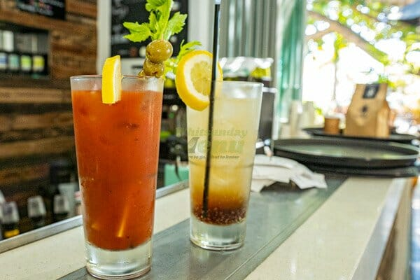bloody mary and long island iced tea served at Airlie Beach Treehouse, Whitsundays