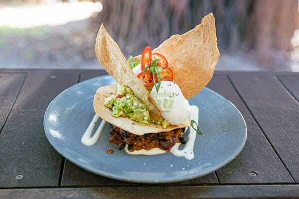 Breakfast Chilli served at Airlie Beach Treehouse, Whitsundays