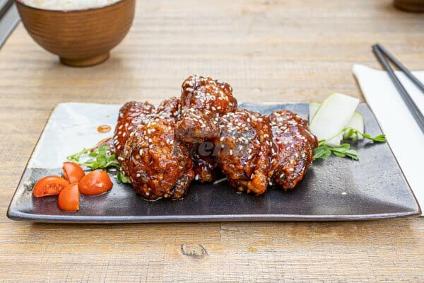 (KFC) Korean Fried Chicken on a table made by Cool La La, Asian Cuisine, Airlie Beach, Australia
