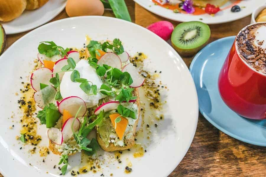 avocado and feta smash at My Rainbow Bakery & Cafe, Airlie Beach, Whitsundays