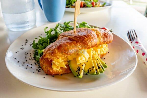 Croissant Eggs Atlantic served at My Rainbow Bakery & Cafe, Cannonvale, Whitsunday Regions