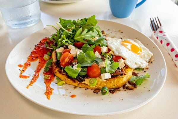 Mediterranean breakfast served at My Rainbow Bakery & Cafe, Cannonvale, Whitsunday Regions